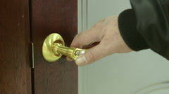 Hand opening lot of doors, multiple shots Stock Footage