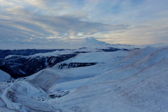 4K. Timelapse sunrise in the mountains Elbrus, Northern Caucasus, Russia. Stock Footage