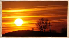 Sunset in the country Stock Footage