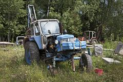 Old abandoned tractor Stock Photos