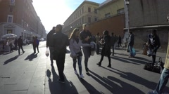People walking in Rome, Italy Stock Footage