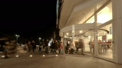 Time Lapse video of people at the entrance of a mall (Editorial) Stock Footage