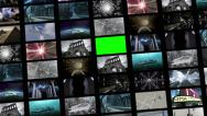Stock Video Footage of Animated video wall, expanding with green screen 4K