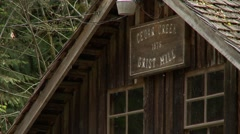 Cedar Creek Grist Mill - Old Fashioned Flour Mill | EX3A7806 Stock Footage
