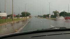 Traffic and rain Stock Footage