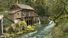 Cedar Creek Grist Mill - Old Fashioned Flour Mill | EX3A7800 Stock Footage