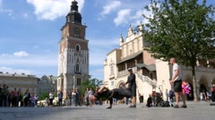 Cracow Marketplace Street Breakdance 4k Stock Footage