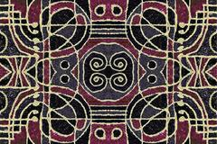 Tribal Geometric Art Pattern Stock Illustration