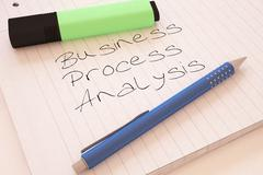 Business Process Analysis - stock illustration
