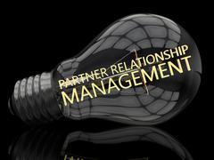 Stock Illustration of Partner Relationship Management