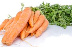 Bunch of fresh carrots Stock Photos
