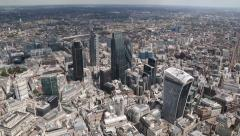 Aerial Shot of The City in London Stock Footage