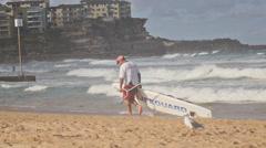 Slow motion Australian life saver Stock Footage