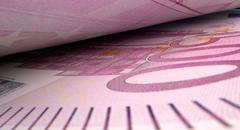Separated Banknotes Close-up Detail - stock illustration