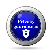 Stock Illustration of Privacy guaranteed icon. Internet button on white background..