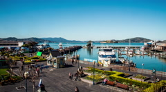 4K Pier 39 And Alcatraz Island San Francisco Timelapse Stock Footage