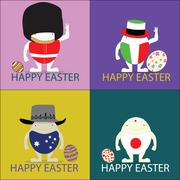 Stock Illustration of happy, easter, vector, illustrator, illustration, eggs, happy easter