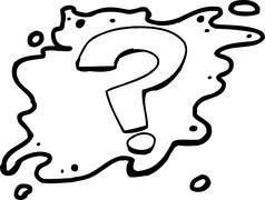 Outlined Question Mark Stock Illustration