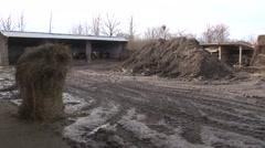 Rural farmyard Stock Footage