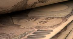 Stock Illustration of Separated Banknotes Close-up Detail
