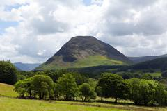 Mountain view near Loweswater Lake District Cumbria England UK Stock Photos