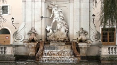 The fountain in Salzburg - stock footage