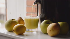 Last Drips Of Freshly Squeezed Juice Stock Footage
