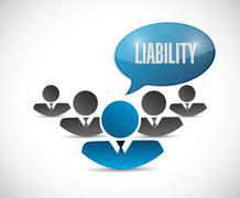 Liability team message illustration design Stock Illustration
