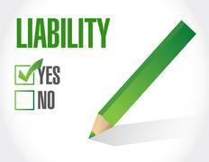 High liability check mark illustration Stock Illustration