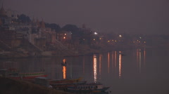 Dasaswamedh Ghat at Varanasi in Uttar Pradesh, India - stock footage