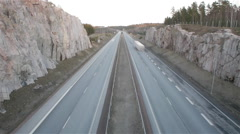 Turku Helsinki E18 highway timelapse with audio. 360 deg shutter = 100% fluid Stock Footage