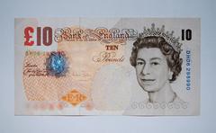 GB - 10 Pounds - stock photo