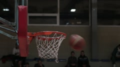 A Little Kid's Slam Dunk Surprise Shot After The Two Misses Basketball Stock Footage