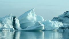 Stock Video Footage of Iceland, Icebergs Landscape.