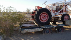 Painted Tractor at Salvation Mountain - stock footage