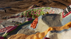 Salvation mountain top view - stock footage