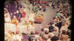 Parade of Flower in Amsterdam. Vintage - stock footage
