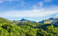 Mountain old village Coaraze, Provence Alpes Cote d'Azur, France. Stock Photos