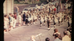 Drummer march. Vintage Stock Footage