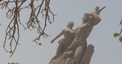 Close up of the African Renaissance Monument in Dakar, Senegal (4K) Stock Footage