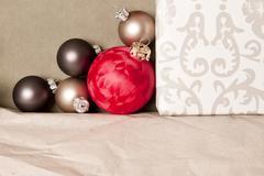 red christmas - stock photo