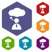 Stock Illustration of Conversation rhombus icons