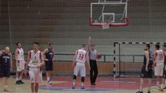Free Throw On Basketball Stock Footage