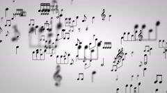 Music Notes Particles 01 - stock footage