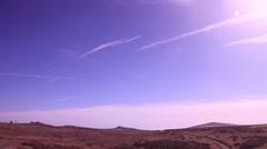 Landscape dartmoor wide pan 3 - stock footage