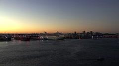 Oasis of Seas Docked Sunset Stock Footage