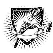basketball shield - stock illustration
