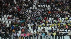 Sport fans Stock Footage