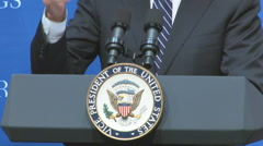 Vice President Biden at podium Stock Footage