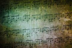 Vintage Music Sheet - stock photo